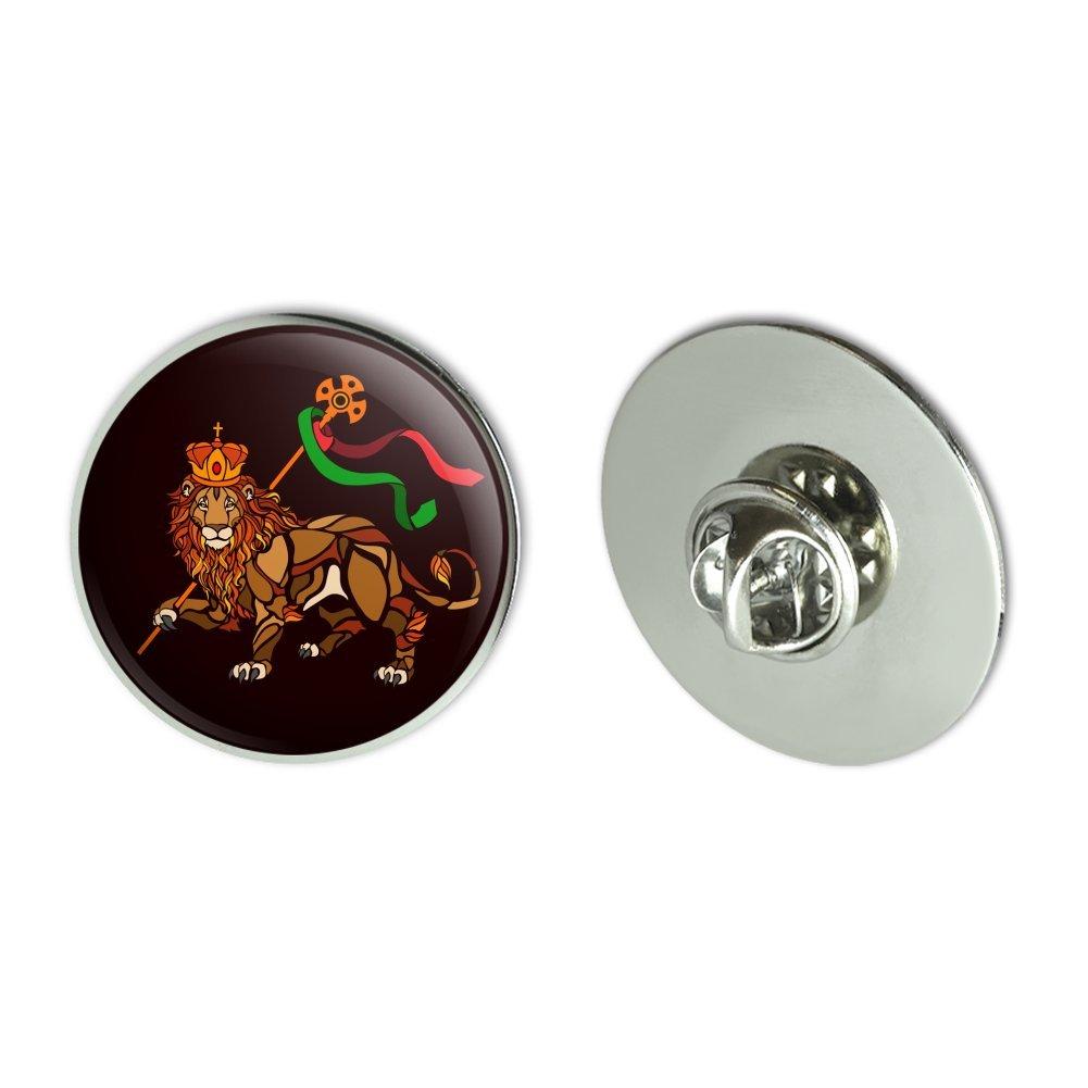 "GRAPHICS & MORE Lion of Judah Bible Metal 1.1"" Tie Tack Hat Lapel Pin Pinback"