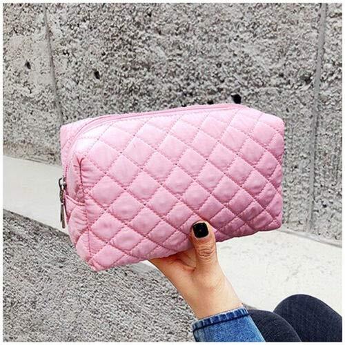 PoplarSun Femmes Multifonction Portable Sac cosmétique Voyage Maquillage Housse de Toilette Organisateur de Stockage Noir Bleu Rose Violet Orange (Color : Pink)