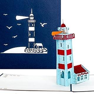"""Pop-Up Karte""""Leuchtturm"""" – Maritime 3D Geb"""