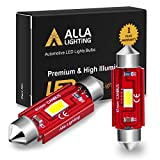 Alla Lighting 800lm Xtreme Super Bright Festoon 41mm 42mm 211-2 214-2 578 LED Bulbs Replacement for Cars Trucks License Plate, Interior Map Dome Trunk Courtesy Lights, 6000K Xenon White