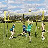 Portable Croce Beach Volleyball Net - Assemblea -Veloce Indoor Outdoor Sports Attrezzi Badminton Tennis Pallavolo Netto Pallavolo Netto (150 X 50 Cm) A