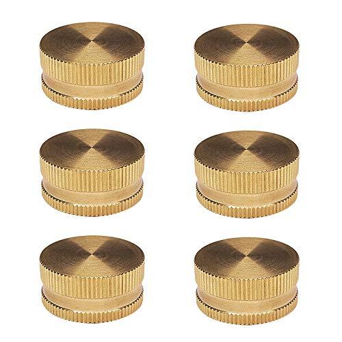 HQMPC Garden Hose Cap with Washer Brass Hose End Garden Hose Connector Brass Cap 3/4