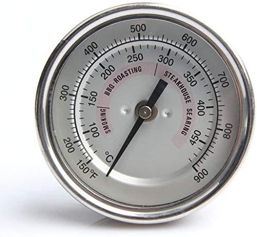 POIUY Cara Gran Parrilla de carbón termómetro de Acero Inoxidable Resistente al Agua Parrilla de Kamado Joe termómetro de 150-900 ° C Horno para cocinar una Simple Herramienta Accesorios de Mad.