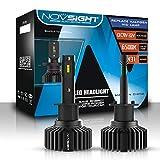 NOVSIGHT Lampadine per fari a LED H1-50w 10.000LM / Set 6500K bianco - 2 anni di garanzia di fabbricazione