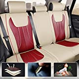 All Weather Custom Fit Seat Covers for Hyundai Santa Fe Sport 5-Seat Full Protection Waterproof Car Seat Covers Beige red Full Set