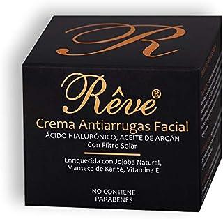 REVE Crema Antiarrugas Facial Argan con Ácido Hialurónico + Molecular Film + Vitamina E + Manteca de Karite + FPS15 + Aloe...