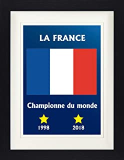 Football Framed Collector Poster - France World Cup Champion 1998 2018 (16 x 12 inches)