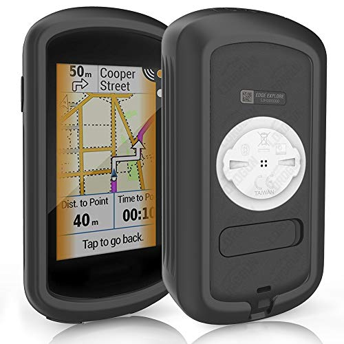 TUSITA Case for Garmin Edge Explore GPS - Silicone Protective Cover - Touchscreen Touring Bike Computer Accessories (Black)