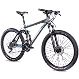 CHRISSON 27,5 Zoll Mountainbike Fully - Hitter FSF grau blau - Vollfederung Mountain Bike mit 30...
