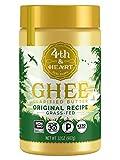 4th & Heart Grass Fed Ghee Clarified Butter, Keto, Pasture Raised, Non-GMO, Lactose and Casein Free, 32 oz