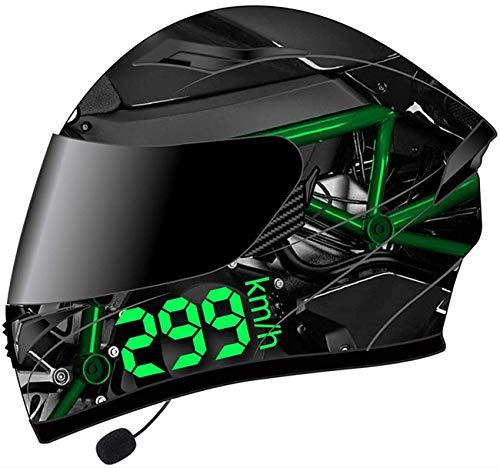 Casco Motocicleta Bluetooth, Modular De Doble Volteo Visera Del Casco Completo, DOT Certificado Casco, Incorporado En MP3 Broadcast Sistema De Comunihelmet 3,XXL=63-64