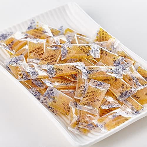 FHUILI 1 g * Confezione da 100,di Gel di Silice Essiccante,con Perline Arancioni Assorbiumidità Essiccatore per umidità Essiccatore per umidità Deumidificazione,deumidificatore per Alimenti