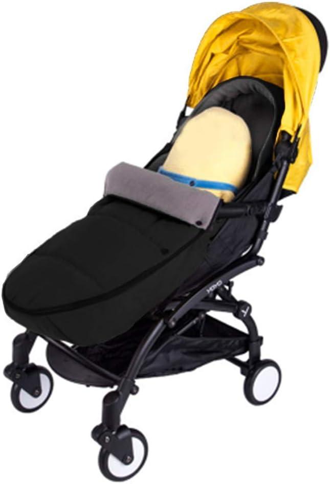 Luerme Sac de couchage pour bébé Tour en plein air pour bébé infantile Poussette universelle Sac de couchage Sac de chancelière chaud (Noir) Noir