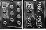MOLDS AND THINGS DEEP Throat Adult Chocolate Candy Mold & Bite Size Ladies Chocolate Candy Mold with Copyrighted Molding Instructions