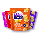 Brazi Bites Gluten-Free Brazilian Cheese Bread: Variety-Pack | Vegetarian Frozen Bread Snacks | Soy-Free | No Artificial Ingredients | No Preservatives | 11.5 oz. pouches (4-pack)