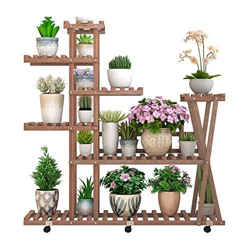 Étagère de rangement pour le stand de plantes Présentoir à fleurs en bois massif - balcon intérieur du salon sur plusieurs étages, sol succulent, étagère de rangement extérieure, support à pots de rad