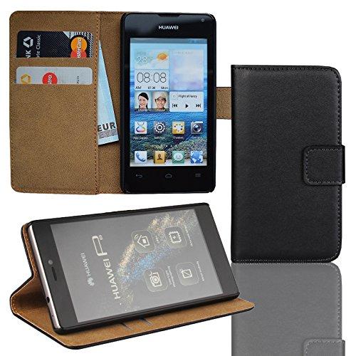 EximMobile Brieftasche Handytasche Flip Hülle Etui für Huawei Nexus 6P schwarz