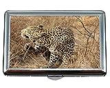 Portasigarette/Box - King Size, Leopard South Africa Safari Business Card Case da uomo