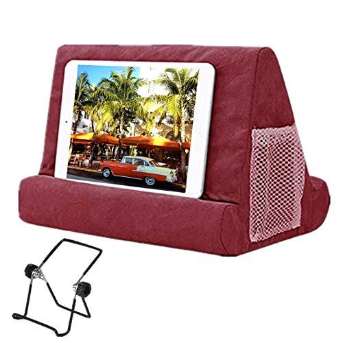 Supporto per tablet e tablet, morbido cuscino multi-angolare per iPad, cuscino per tablet o iPad letto Stand in schiuma per libro riposo lettura, per letto a giro, bambini vino