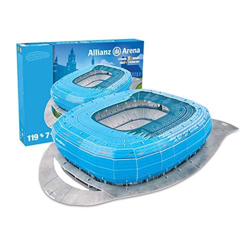 Estadio Allianz Arena - Nanostad - Puzzle 3D - (Color Azul) (Producto Oficial Licenciado)