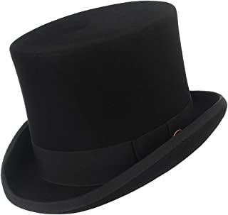 GEMVIE トップハット 山高帽子 レディース メンズ 無地 リボン飾り シルクハット フォーマル エレガント フェルト 帽子 イングランド風 紳士帽 ハロウィン マジシャン 演劇 コスプレ