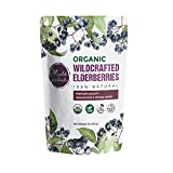 100% USDA Certified Organic Whole Dried Elderberries (Sambucus Nigra) | 1lb bag | Premium Quality | European Wildcrafted | Natural Immune Support | Vegan | Non-GMO | Gluten Free | Recyclable Packaging