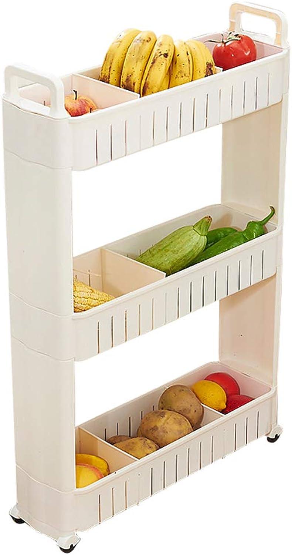 Removable Bathroom Storage Rack Bathroom Kitchen Refrigerator Locker Multilayer - White