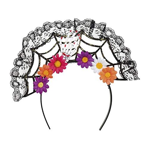 Boland 97063 - Cerchietto per capelli La Flora Day of The Dead, da donna, multicolore