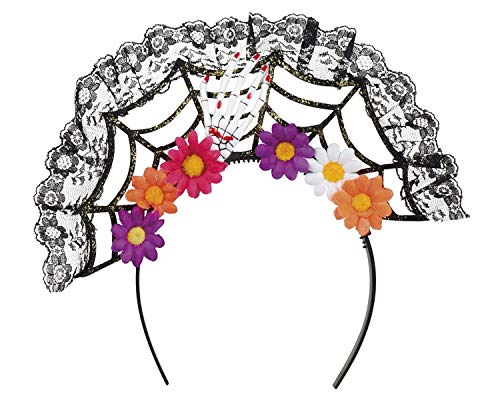 Boland 97063 haarband La Flora Day of the dead, dames, meerkleurig