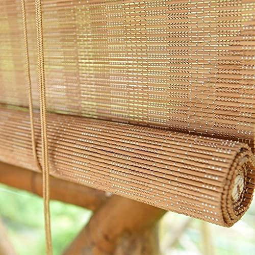 AINUO Bamboo Rollo - Rodillos para puerta de ventana y pabellón de pérgola (85 cm, 105 cm, 125 cm, 145 cm de ancho, 125 cm de ancho, 125 cm de ancho (tamaño: 125 x 210 cm)