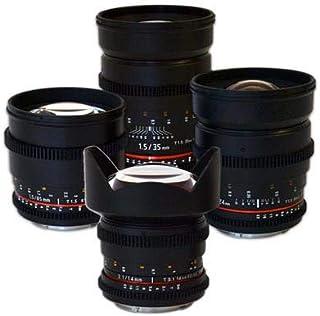 Rokinon 4 Cine Lens Kit for Sony Nex E Mount (14mm T3.1, 24mm T1.5, 35MM T1.5, 85MM T1,5)