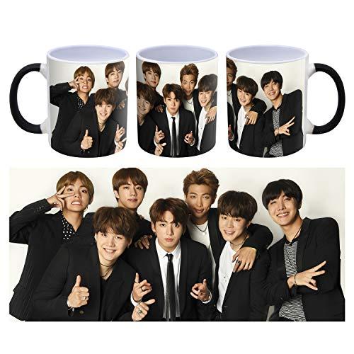BTS Korean Boy Band K-POP - Taza de café (cerámica, 300 ml)
