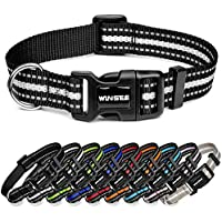 WINSEE Nylon Reflective Dog Collar with Quick Release Buckle