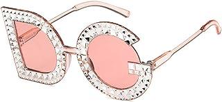 Unisex Sunglasses Retro Bright Black Grey Drive Holiday Round Non-Polarized UV400