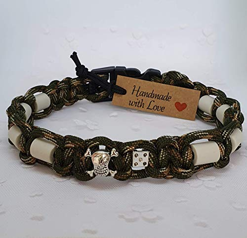 EM-Keramik-Halsband für Hunde/EM-Hundehalsband - Undercover Dog - ARMY-Grün-Mix