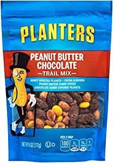 Planters Peanut Butter Chocolate Trail Mix (6 oz Bags, Pack of 12)