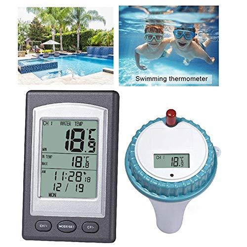 LCD Digital Display Draadloos temperatuur en vochtigheid Meter, Drijvend zwembad Pool Thermometer
