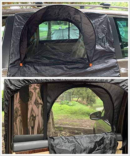 MC&SA SUV Camping Tent with Screen Sleep in Car Fresh Airflow in Keep Bugs and Insects Out