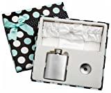 3oz White Garter Belt Hip Flask with Gift Box for Weddings, Free Engraving!