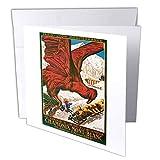 3dRose Vintage Invierno Olímpicos 1924 Chamonix Mont-Blanc Póster de viaje – Tarjetas de felicitación, 6 x 6 pulgadas, juego de 12 (gc_126031_2)