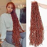 36Inch Soft Locs Crochet Hair Faux Locs Crochet Braids Hair 350# 180g Goddess...