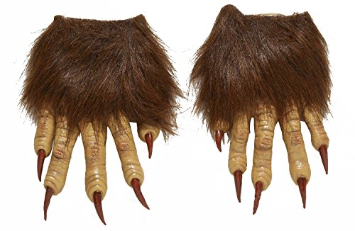 Forum Novelties Men's Werewolf Latex Claw Hands Costume Accessory, Brown, One Size