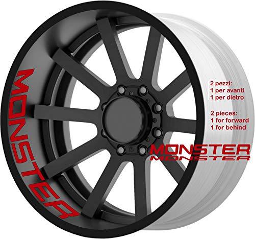 Ducati Monster 600 620 695 696 750 796 848 900 1098 1100 evo sr2 s4 adesivi ruote interno strisce cerchi decalcomanie strip cerchioni Cod. 0222 (031 Rosso)