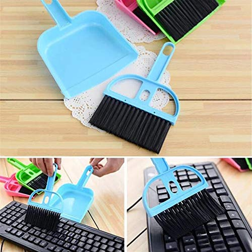 Computer-Reinigungs-Kehrmaschine-kleine Besen-Tastatur-Schaufel-Bürste NEU