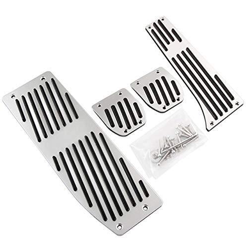 Denkqi Accessori Moda Lega di Alluminio Argento/Nero Auto Pedali Riposo/Fit for BMW X1 M3 E30 E36 E39 E46 E87 E90 E91 E92 E93 Car-Styling (Color Name : Silver MT M Logo)