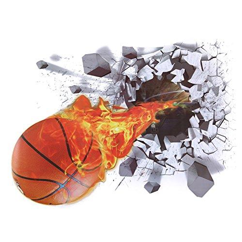 CHIC-CHIC Fußball Basketball Wandsticker Wandtattoo 3D Wandbilder für Wohnzimmer Kinderzimmer Realistisch Durchbruch DIY Wandbilder