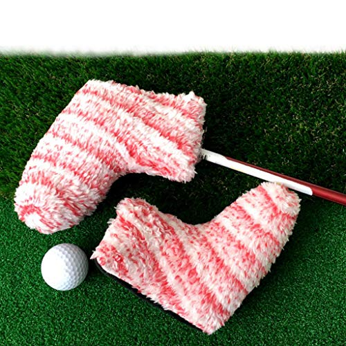 Toygogo Golf Putter Head Covers Headcover Blade Proetctor Universal for All Brands Blade - Performance PU Leather - Select Colors - Pink