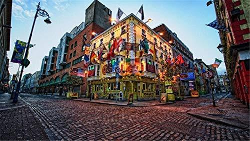 nobrand Puzzle Jigsaw Dublino, Irlanda, Città Fai da Te Regalo Fatto A Mano per Ragazza Adulto 1000Pezzi