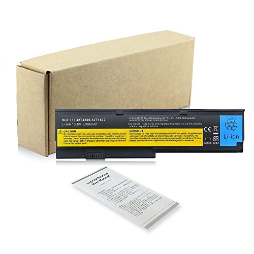 Replacement Notebook Laptop Battery Akku für Lenovo IBM ThinkPad X200 X200s X201 X201s X201i X201si ASM 42T4537 42T4538 42T4540 42T4542 42T4543 42T4649 43R9254 42T4534 42T4536 42T4538 42T4647 42T4648 42T4834 42T4835 43R9253 43R9254 43R9255 Batterie Battery 6Cell 10.8v 5200mAh