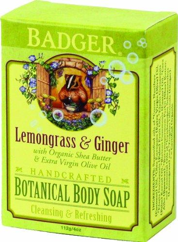 Badger - Handcrafted botanique Body Soap citronnelle et gingembre - 4 Oz.